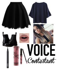 """Voice contestants"" by christines-fernanda-fong ❤ liked on Polyvore featuring Dr. Martens, Kylie Cosmetics, NARS Cosmetics, thevoice and YahooView"