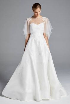 cape wedding dress anne barge