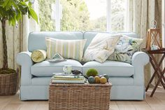 Palm House sofa from Laura Ashley, bringing summer to your home.