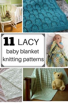 Sewing Baby Blanket These 11 beautiful lacy baby blanket knitting patterns look intricate but are easy to knit up! They're perfect for babies who live in warmer climates and make gorgeous baby shower presents or a special gift for a mama to be Easy Crochet Patterns, Knitting Patterns, Sewing Patterns, Blanket Patterns, Easy Baby Blanket, Baby Boy Blankets, Crochet Projects, Sewing Projects, Sewing Ideas
