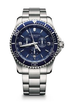 df81b8674fa Victorinox-Maverick-Mostrador-azul-com-bracelete-de-aco Pulseiras