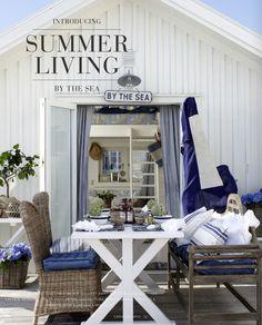 SUMMER PORCH - BLUES, WHITES & GRAYS