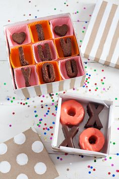 Homemade valentine's day treat boxes