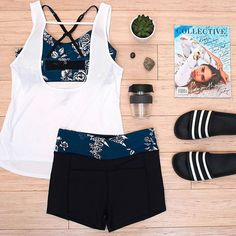 When your outfit is on point & the hot yoga studio is calling your name..... ⠀  ⠀  #mACTIVE #mPWR #beboldbeyou #activewear #athleisure #styleblog #styleinspo #fashion #healthy #fit #fitness #active #lifestyle #smile #sunshine #bright #spring #yoga #sandals #crop #floral #shorts #relax #hotyoga #yoga #yogaeverydamnday #flatlay