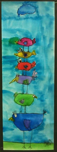Art Room Blog: 1st Grade Stacking Birds...