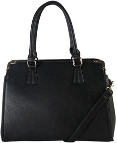 Black Triple-Compartment Satchel @ Zulily #zulily #bag