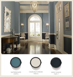 Behr paint, Waterscape is light of the blues. classic entry