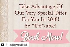 #Repost @calderwood.hall  While Your Marriage Will Last A Lifetime Our Very Special 2018 Offer Will Not!  To make your wedding more do-able we have reduced the price of our 2018 Wedding Package to only R25 600 incl VAT. So you will save R6 400 a FULL 20% off! There has never been a better time to say I Do! This saving only applies for weddings taking place in 2018.  At Calderwood Hall Guest House our wedding package is extensive as we include:  the Jardine Function Centre hire including…