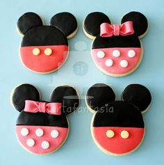 TartaFantasía: Paso a Paso Galletas de Mickey y Minnie Mouse
