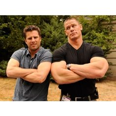 """James Roday & John Cena on the set of """"Psych"""" Psych Memes, Psych Tv, Psych Movie, Shawn And Gus, Shawn Spencer, Real Detective, James Roday, I Know You Know, I Cant Do This"""