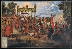 The Meeting of Cortés and Montezuma - The Conquest of Mexico series - Wikimedia Commons