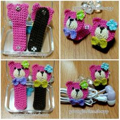 youngladieshome: Cord Holder Crochet1. Pattern in Cord Holder Crochet 2 [ with diagrams ]: http://youngladieshome.blogspot.my/2015/04/cord-holder-crochet.html