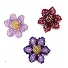 Spring Flower Beaded Pattern   Bead-Patterns.com