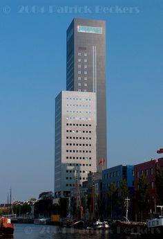 Achmea Tower in Leeuwarden, Friesland, Holland.c