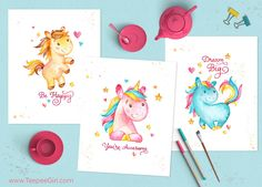 Looking for some cute posters to put in your daughter's room? Need a great idea for a birthday party? Check out these colorful and cute posters!