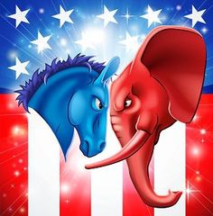 Buy American Politics Concept by Krisdog on GraphicRiver. American politics concept illustration of a donkey and elephant facing off. Symbols of Democrat and Republican two US. Red Sun Rising, Patriotic Poems, Elephant Face, Capture The Flag, Democrats And Republicans, Red Vs Blue, Red State, Life Philosophy, Political Party