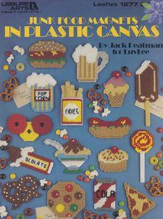 Junk Food Magnets Leisure Arts Plastic Canvas Pattern Booklet