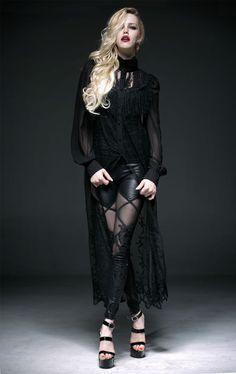 Gothic Burlesque Lolita Wetlook Leggings mit Spitze von Punk Rave in Kleidung & Accessoires, Damenmode, Leggings | eBay
