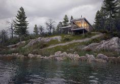 Modest Weekend Shelter - Water View, kaiserbold / arch.visualization on ArtStation at https://www.artstation.com/artwork/YRvdq