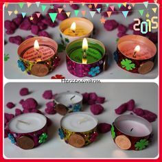 New Year Diy, Happy New Year, New Years Decorations, Diy Candles, Diy Party, New Years Eve, Little Gifts, Xmas, Paper Crafts