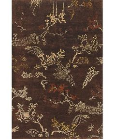 Rugsville Opera Wool Silk Brown Hand Knotted 10783 5x8 Rug