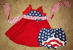 Patriotic outfit for baby