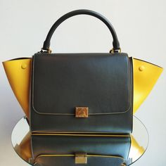 36a1b74b7b1e Introducing the Celine Bags with Colored trim for Fall   Winter This season includes  the classic Trapeze and Mini Luggage totes with colored