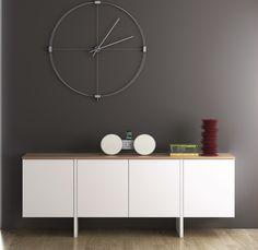 Temahome Edge Sideboard in Pure White/Oak or Pure White/Walnut Veneer