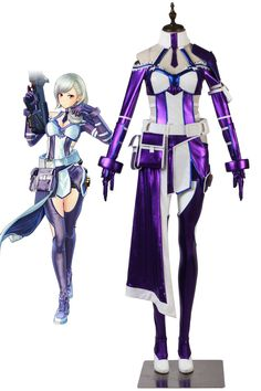 Fatal Bullet GGO Pitohui Cosplay Costume Tailor made Any Size Sword Art Online
