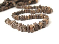 """Wood CocoNut Shell Beads - Eco Friendly Abacus Beads 7mm - 16"""" strand  (PC216)"""