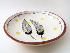 Hand painted terracotta plate by Susan Simonini