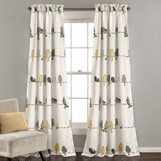 Lush Decor Rowley Birds Room Darkening Window Curtains Panel Set for Living Room, Dining Room, Bedroom (Pair), x Yellow and Gray Bird Curtains, Rod Pocket Curtains, Colorful Curtains, Drapes Curtains, Target Curtains, Cute Curtains, Nursery Curtains, Drapery, Room Darkening Curtains