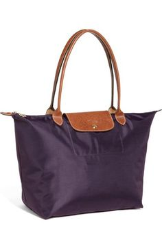 """Longchamp 'Large Le Pliage' Nylon Tote available at #Nordstrom $145, 12 ¼""""W x 11 ¾""""H x 7 ½""""D. (Interior capacity: large.) 9"""" strap drop"""