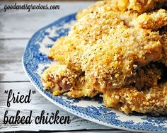 Baked Fried Chicken - A family favorite way to lighten up your traditional fried chicken recipe. Easy and delicious!