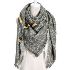 a4ec2d5aeea0 Trouver plus Foulards Informations sur Hiver nouvelle marque de luxe femmes  de mode cachemire grande taille écharpe Fondateur solide couleur couverture  et ...