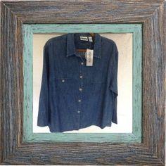 CHICO'S DESIGN Denim Look Shirt Jacket Ramie Cotton Blend (12/14 M) NEW  #Chicos #ButtonDownShirt