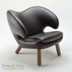 fauteuil scandinave plécan en cuir