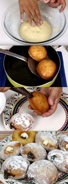 COMO FAZER DONUTS DELICIOSOS E FÁCEIS #pão #donutis#comida #culinaria #gastromina #receita #receitas #receitafacil #chef #receitasfaceis #receitasrapidas
