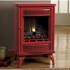 Free-standing electric fireplace stoves have old-world charm with new world technology.
