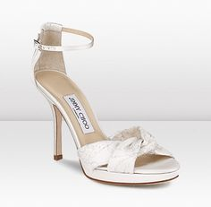Jimmy Choo Macy Lace Sandals White,Most Comfortable High Heels White Bridal Shoes, Wedding Shoes, Wedding Attire, Dream Wedding, Most Comfortable High Heels, Jimmy Choo Sunglasses, Cinderella Shoes, Couture Shoes, Vogue
