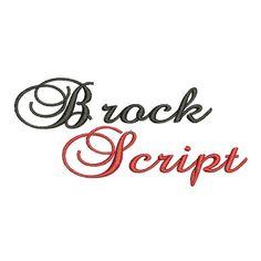 Brock Script Machine Embroidery Font Monogram Alphabet - 3 Sizes on Etsy, $2.95
