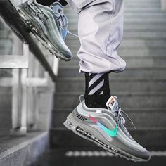 Free trackable shipping worldwide via DHL! We are your trusted source for buying the rarest sneakers at the best prices. Buy the best Nike Off-White Air Max 97 / Menta replica shoes Rare Sneakers, Best Sneakers, Air Max Sneakers, Sneakers Fashion, Sneakers Nike, Fashion Shoes, Air Max 97, Nike Air Max, Jordan Nike