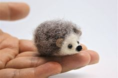**Adorable Needle Felted Hedgehog Ornament/Keychain/Charm ** ♥ Perfect gift for animal lovers! ♥ Hedgehog that everyone would like to buy for themselves, too! ♥ Great fun, cute ornament for decorating your desk, shelf, and anywhere you can think of! ♥ Lovely keychain, charm, bag