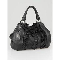 Prada on Pinterest | Neiman Marcus, Prada Handbags and Leather Bow - prada shoulder bag black+bronze