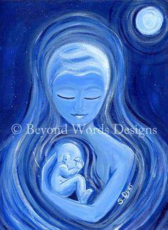 Glowing mama art