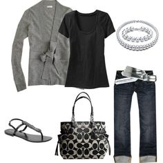 Cute. Already have the bag, the pants and the T. Don't like the shoes though but have cute black leather flip flops.