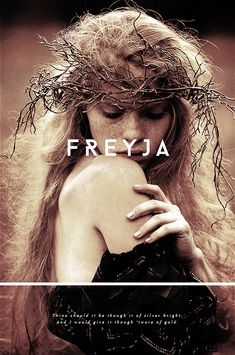 Freyja (Old Norse for 'Lady') is the goddess of love, beauty, fertility, magic, and war. She rides a chariot pulled by two cats and owns both the mythical necklace Brísingamen and a cloak made of falcon feathers. Freyja is married to a god named Óðr and has two daughters with him, who are called Hnoss and Gersemi; her dwelling is called Fólkvangr and since she's one of the Valkyries, her halls host half of those who die in battle. #myth
