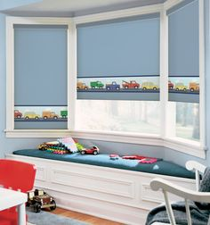 BG Kids® Roller Shades: Toy Trucks
