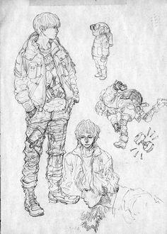 Anime Drawings Sketches, Cartoon Sketches, Anime Sketch, Art Drawings, Character Concept, Character Art, Concept Art, Manga Art, Anime Art
