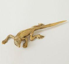 lizard letter knife